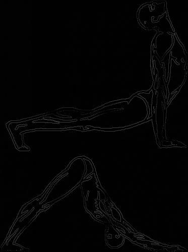 Одновременно движением шеи прижимаем голову...  Схема дыхания в пятом ритуальном действии несколько необычная.